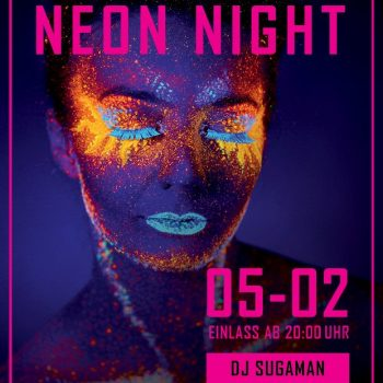 Flyer der ameranger Neon Night