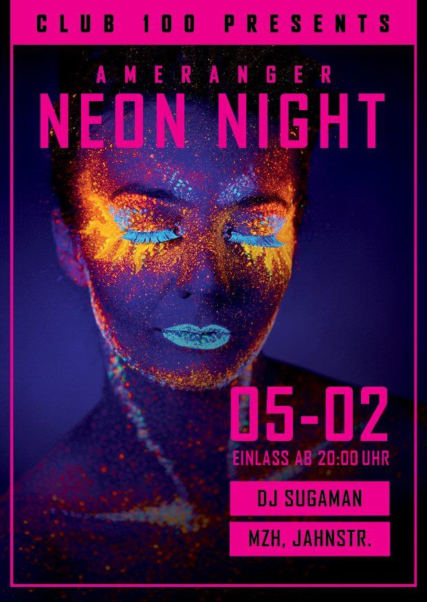 Flyer der ameranger Neon Night